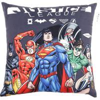 Capa Para Almofada Justice Leagueâ®- Cinza Escuro & Azul