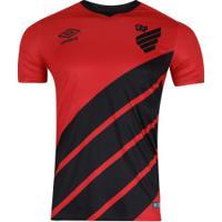 Camisa Do Atlético-Pr I 2019 Umbro - Masculina - Vermelho/Preto