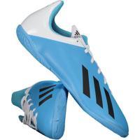Chuteira Adidas X 19.4 In Futsal Juvenil Azul