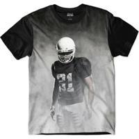 Camiseta Attack Life Futebol Americano Presença Sublimada Masculina - Masculino-Preto