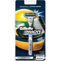 Aparelho De Barbear Gillette Mach 3 Turbo Com 01 Unidade
