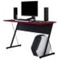 Mesa Para Computador Notebook Pc Gamer Kombat F01 Preto Vermelho - Lyam Decor
