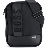 Boss Kids Bolsa Carteiro Com Logo - Preto