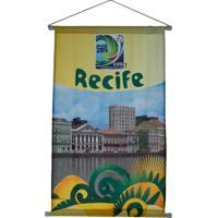 Flâmula Licenciados Copa Do Mundo Cidades Poly Recife Amarela