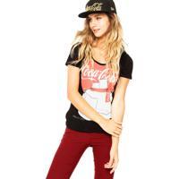 Blusa Coca-Cola Jeans Urso Preta/Vermelha