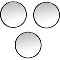 Espelho Com Ventosa 3,5'' Aumento De 5X 3 Unidades - Espelho Com Ventosa 3,5 Aumento De 5X 3 Unidades