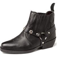 Bota Fran Boots Country Infantil Preta