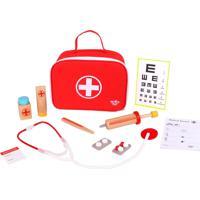 Maleta Tooky Toy De Médico Com Acessórios - Tkc567 - Vermelho