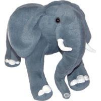 Elefante De Pelúcia Realístico 55Cm