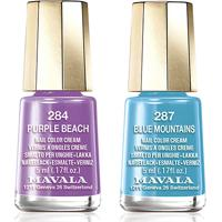 Kit Mavala Mini Esmalte Color Blue Mountains 5Ml + Mini Esmalte Color Purple Beach 5Ml - Feminino-Incolor