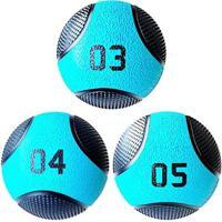 Kit 3 Medicine Ball Liveup Pro 3 4 E 5 Kg Bola De Peso Treino Funcional - Unissex