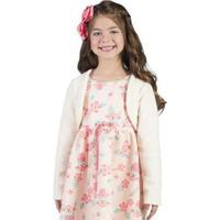Bolero Infantil Bugbee Soft Feminina - Feminino-Off White