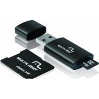 Pen Drive 3 Em 1 Usb Microsd Card C/ Adaptador Sd 32Gb Multilaser