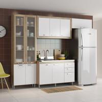Cozinha Compacta Concordia 10 Pt 3 Gv Argila E Branco