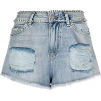 Twin-Set Bermuda Jeans Destroyed - Azul