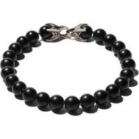 David Yurman Pulseira 'Spiritual Beads' De Prata Com Ônix - Ssbbo