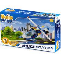 Blocos De Montar - 122 Peças - Helicóptero Da Polícia - New Toys