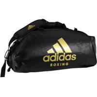Bolsa Mochila 2In1 Boxing Preto Com Dourado Adidas