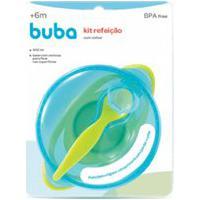 Kit Refeição Com Colher Buba Toys Azul 5804