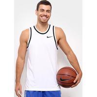 Camiseta Regata Nike Dry Classic Jersey Masculina - Masculino-Branco+Preto