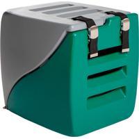 Caixa Transporte 2 Em 1 Happy Box-Charlie Pet - Cinza / Verde