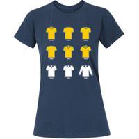 Camiseta Adams Básica Futebol - Feminina - Azul Escuro - Final Copa América Bra X Per - Azul Escuro