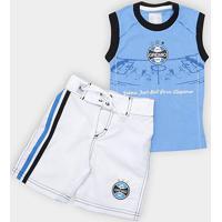 Conjunto Infantil Grêmio Bermuda E Regata - Masculino