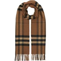 Burberry Cachecol The Classic Xadrez De Cashmere - Marrom