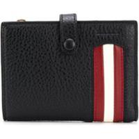 Bally Massen Contrasting-Stripe Wallet - Preto