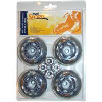 Kit 4 Rodas Belfix Para Roller Cinza