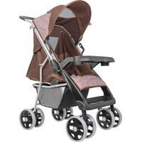 Carrinho De Bebê Tutti Baby Rotação 360° Marrom/Rosa