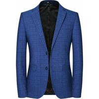 Blazer Masculino Xadrez Lansboter - Azul Pp