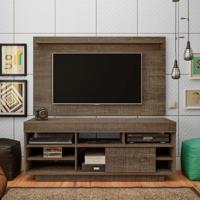 Rack Com Painel Para Tv 42 Polegadas Roma Canela 140 Cm