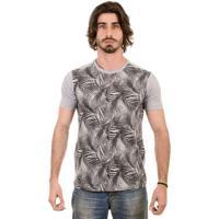 Camiseta Gnose Estampa Coqueiro Cinza