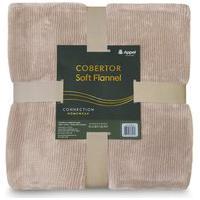 Cobertor Soft Flannel Cationic Queen 2,20X2,40 - Canela - Appel