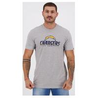 Camiseta New Era Nfl Los Angeles Chargers Cinza Mescla