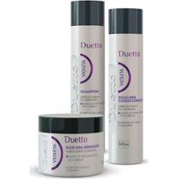 Kit Violeta Duetto 1 Shampoo 300Ml+ 1 Condicionador 300Ml + 1 Máscara 500G - Unissex-Incolor