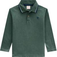 Camisa Polo Infantil Masculina Verde