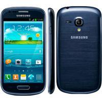 "Smartphone Samsung Galaxy S3 Mini Azul Gt-I8190L - 3G - Wi-Fi - 4"" - 8Gb - 5Mp - Android 4.1 - Desbloqueado"