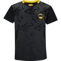 Camiseta Liga Da Justiça Dc Batman - Juvenil - Preto/Amarelo