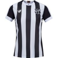 Camisa Do Ceará I 2020 Nº 10 - Feminina - Preto/Branco