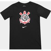 Netshoes  Camiseta Corinthians Infantil Nike Evergreen Crest - Masculino 29380cbabe7f4