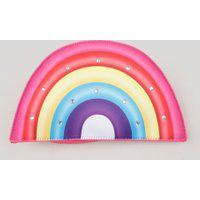Bolsa Infantil Arco-Íris Com Brilho Rosa