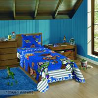 Jogo De Cama Toy Storyâ® - Solteiro- Azul & Vermelho-Lepper