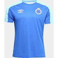 Camisa Cruzeiro 2019 Treino Umbro Masculina - Masculino-Azul Royal+Branco
