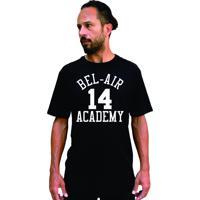 Camiseta Cnx Fresh Prince Bel Air Academy Will Smith Preta.