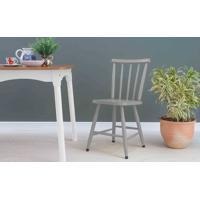 Cadeira De Mesa De Jantar Mimo Laqueada Cinza Concreto 44X41,5X81Cm