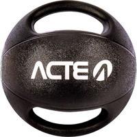 Medicine Ball Com Pegada 7 Kilos - Preto & Cinza - Øacte