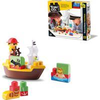Brinquedo Para Bebê Blocos De Montar – Navio Pirata – Tchuco Blocks – Samba Toys