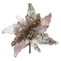 Flor Artificial Decoraçáo Natal 1 Unidade Poinsetia Nude